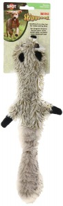 Ethical Mini Skinneeez Raccoon 14-Inch Stuffingless Dog Toy