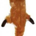 Ethical Plush Skinneeez Fox Stuffingless Dog Toy