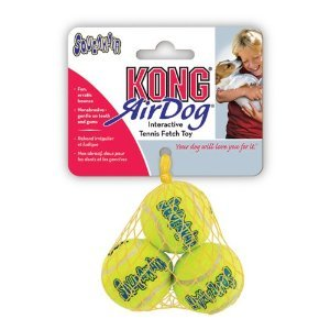 KONG Squeaker Tennis Balls Dog Toy 3-Pack Small
