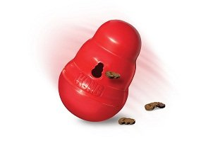 KONG Wobbler Treat Dispensing Toy Small Red