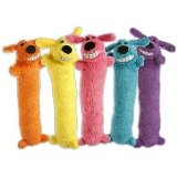 Loofa Dog Plush Dog Toy Colors Vary
