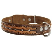 Leather Dog Collar Fits 17-22-Inch Neck