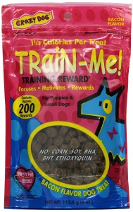 Crazy Dog Train Me Mini Bacon Treats Bacon Flavor