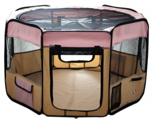 ESK Collection Pet Puppy Dog Playpen Pink