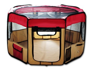 ESK Collection Pet Puppy Dog Playpen Red