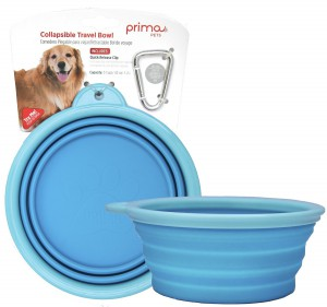 Prima Pet Collapsible Silicone Food & Bowl Large