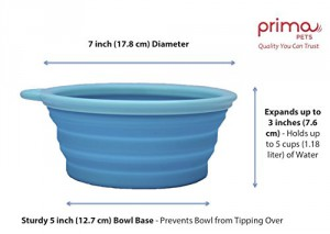 Prima Pet Large Bowl Aqua Dimensions