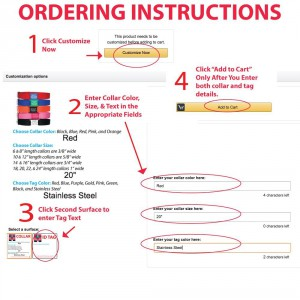 Tag and Collar Ordering Instructions