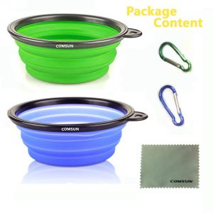 Comsun Collapsible Dog Bowl Package Contents