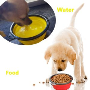 Comsun Collapsible Dog Bowl Used For Food and Water