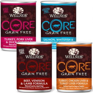 Wellness CORE Grain Free Canned Dog Food Four Flavors