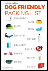 Dog Traveling Check List
