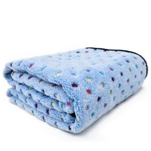 PAWZ Pet Dog Blanket Fleece Fabric - Blue