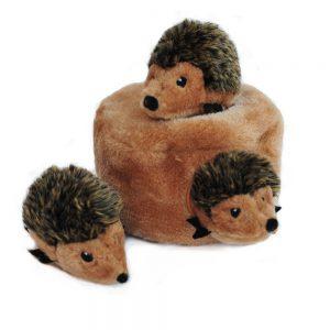 Zippy Paws Burrow Squeaky Hide & Seek Plush Dog Toy - Hedgehog Den