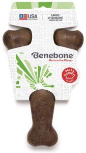 Benebone Wishbone Dog Chew Bacon Flavor Dog Luxury Beds.com